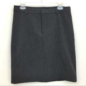 GAP pinstripe pencil skirt with stretch size 8
